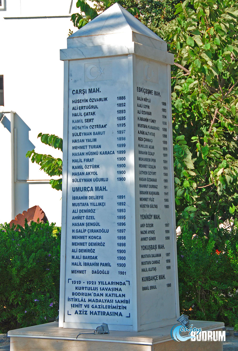 Monument for martyrs from Bodrum