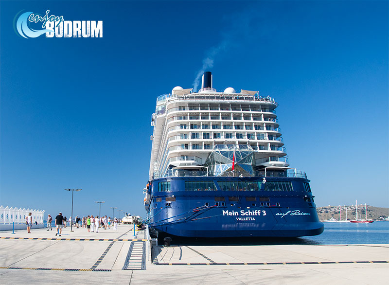 Cruise ship at Cruise Port of Bodrum