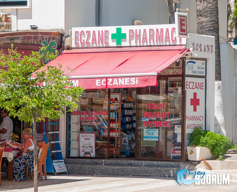 A pharmacy at the Bodrum town centre