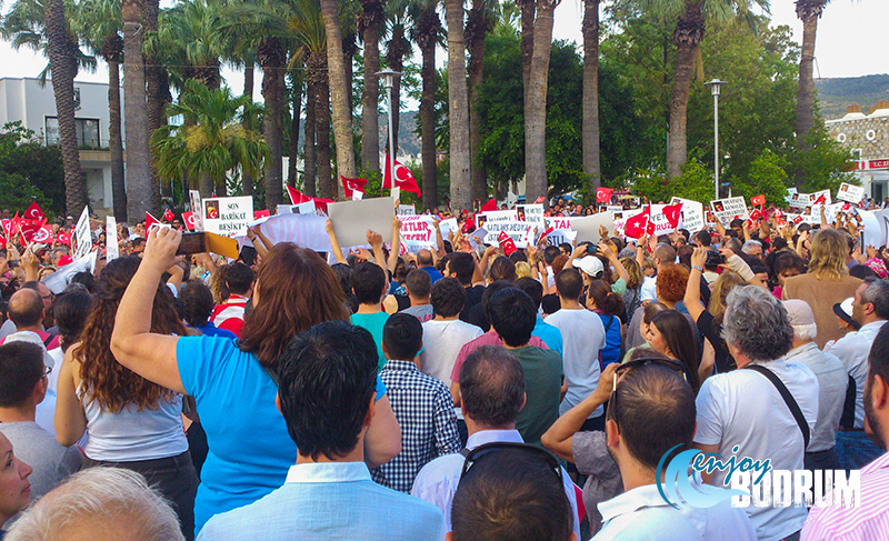 Gezi protests in Bodrum in 2013