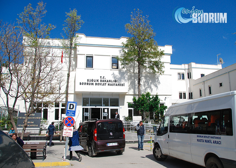 The main entrance of the Bodrum State Hospital