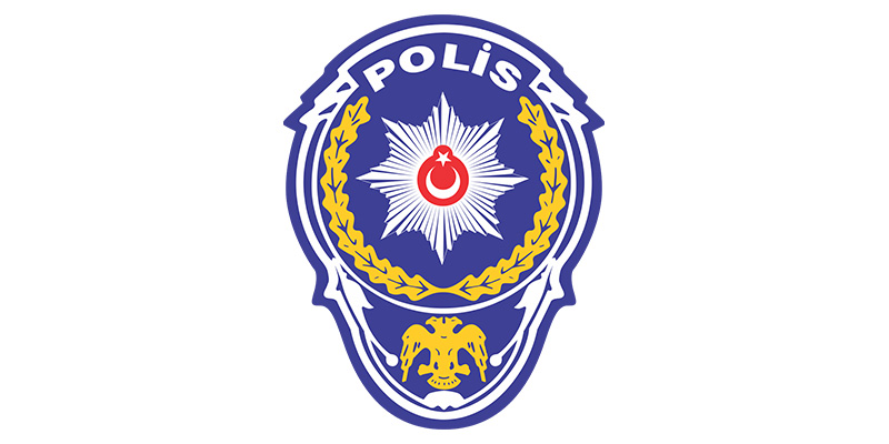 The logo of the main security unit of Turkey: The police